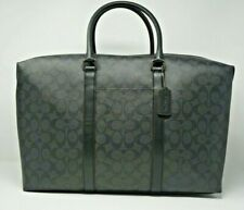 Coach Men's Black Signature Canvas Trekker Travel Duffle Bag F76811