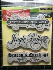 New Penny Black Rubber Stamp Christmas Oh What Fun Set free Usa ship cling