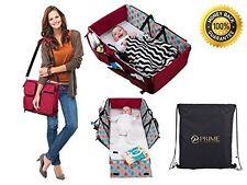 3 in 1 Travel Bassinet Diaper Bag Change Mat NonToxic Waterproof Carry Cot Handl