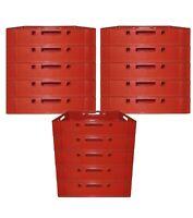 13 Stück Stapelkisten Lagerkästen lebensmittelecht E1 60x40x13 rot neu Gastlando