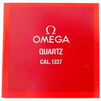 OMEGA QUARTZ CAL. 1337 SERVICE BOOKLET