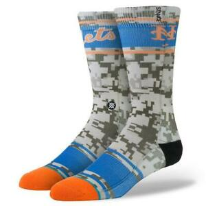 Stance Orange Blue New York METS Camo MLB Crew Socks Men's Sizes NWT SOLD OUT
