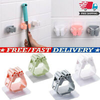 Clip Mop Broom Hooks Holder Clip Wall Mounted Storage Rack Brush Handle Hanger