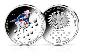 20-Euro-Münze 300. Geburtstag Freiherr von Münchhausen 2020