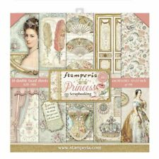 """NEW Stamperia 12"""" x 12"""" Paper Sheets Princess"""