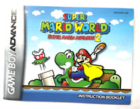 INSTRUCTION MANUAL BOOK ONLY! SUPER MARIO WORLD NINTENDO GAME BOY ADVANCE 2 GBA!