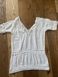 Topshop Cotton & Crochet Beach Cover Up Dress Sz: M