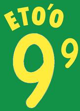 Cameroon ETO'O Nameset 2002 Shirt Soccer Number Letter Heat Print Football H