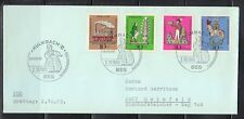 Germany 1969 FDC Mi 604-607 Sc B450-B453 .Tin Toys .Kulumbach