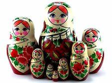 Nesting Dolls Russian Matryoshka Babushka Stacking Wooden Traditional Toys 8 pcs