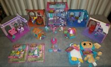 Huge Animal Jam Playset Lot - Le Den, Pet Wash, Cotton Candy Hut, Plush, Figures