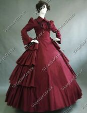 Victorian Maid Vintage Period Dress Gown Steampunk Vampire Halloween Costume 007