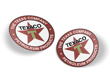 Texaco Gasoline and Motor Oil, Vinyl Decals, Stickers, Set of 2, Free Shipping