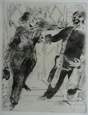 MARC CHAGALL 1887-1985 ORIGINAL SIGNED ETCHING LTD ED OF 285 'DEAD SOULS GOGOL'