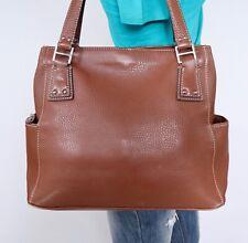 FOSSIL Large Brown Leather Shoulder Hobo Tote Satchel Purse Bag