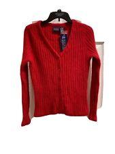 Hillard & Hanson Vintage 52%Angora 48% Nylon (rabbit Hair )Cardigan Sweater M
