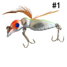 New Crankbait Fishing Lures Sinking Jerkbait with Feather 8 Colorscja