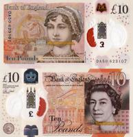 ENGLAND, £10, 2017, P395, POLYMER, Queen Elizabeth II, UNC