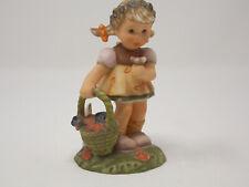 """Goebel Spring Blossoms"" Little Girl Figurine Holding a Flower Basket - Bh 3/2/0"