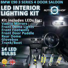 Bmw E90 3 Series Saloon Led Interior Upgrade Kit Completo Conjunto De Bulbo Xenon Blanco