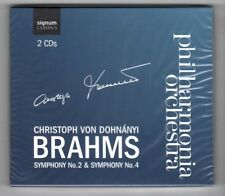 (HY450) Philharmonia Orchestra, Brahms Symphony No 2 & 4 - 2008 Sealed double CD