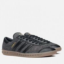 ++ RARE+++ 13 BLACK SUEDE Adidas Hamburg RED STRIPE NEW spezial samba trimm