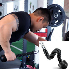 TnP Single Rope Attachment for Cable Gym Machine Tricep Push/Pull Down Cord
