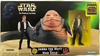 Kenner Star Wars Power of The Force Jabba The Hutt and Han Solo figure set MIB