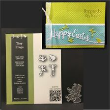 Frog die set TINY FROGS Poppystamps metal dies 1781 Animals,toads