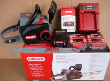 Akku-Kettensäge OREGON CS300 + 1 Kette extra + Batterie 6Ah mit Schnellladegerät