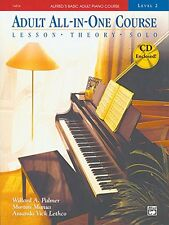 Alfred's Basic Adult Piano Course, All-In-One, Level 2 w/CD [STUDENT EDITION] Ne