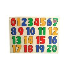 A To Z 123 Puzzle en Bois Numéro 18 Mois+