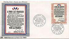 PREMIER JOUR  NOUVELLE CALEDONIE NOUMEA APPEL DU 18 JUIN GENERAL DE GAULLE 1965