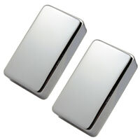 2pcs Silver Sealed Brass Humbucker Pickup Cover for Electric Guitar Parts