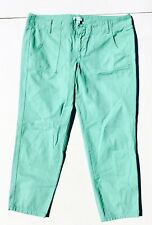 J Crew Women's Capri Crop Pant Size 10 Lt Mint Green Cotton Casual Jean