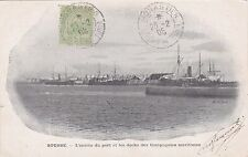 TUNISIA - Sousse - L'entrée du Port et les Docks des Compagnies Maritimes 1905