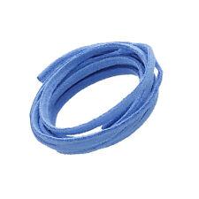 3x1.5mm Ultra Micro Fibre Daim Plat Cordon Bleu Clair 1 mètres (N81/5)