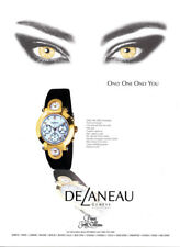 DeLaneau watch print ad 2000 Princess Jewels Collection - Woman's Eyes