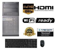 Dell Optiplex 390 MT  Windows 7 Pro Core I3  250GB, 4GB HDMI/VGA WiFi