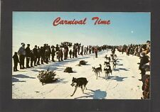 POSTCARD:  DOG SLED RACE DURING WINTER CARNIVAL IN NORTHERN ONTARIO, CANADA