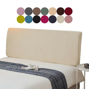 Elastic Headboard Cover Bed Head Slipcover Dustproof Protector Cover Plain Color