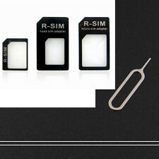 2 sets Nano Sim Card Adapter Adaptor Converter Tray Holder to Micro+Regular SIM