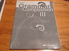 Abeka Grammar and Composition III Test / Quiz Teacher Answer Key 71803006