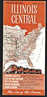 ⫸ 547 Illinois Central Railroad Condensed Time Tables April-30-1961