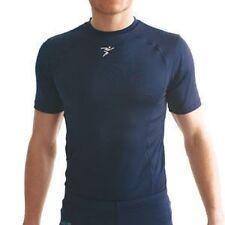 "Base Layer Short SleeveT Shirt Navy Blue Medium 38-40"" Training Football Rugby"
