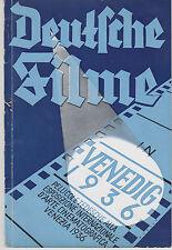 Esposizione Venezia 1936 Deutshe Filme Germany cinema tedesco grafica Herbst