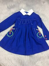 Vintage Toddler Girls Blue Mcdonaldland Fashions Dress Captain Crook McDonald's