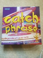 ITV Catch Phrase Board Game Britannia Games Family Fun 3/4 decks sealed Complete