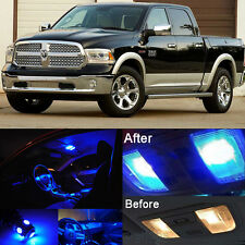 Blue LED Interior Kit +Blue License Light LED For Dodge Ram 1500 2500 2009-2016