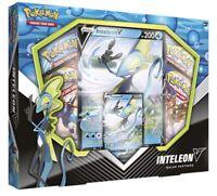Pokemon TCG Galar Partners Jumbo Inteleon V Card 4 Booster Packs - New